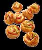 Pizza-Brötchen mit Pute & Jalapeno